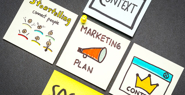 graphic with marketing plan