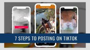 Three images of TikTok interface