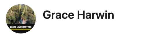 Screenshot of Grace Harwin's profile photo